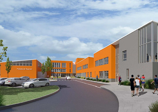 A visual of our new school.